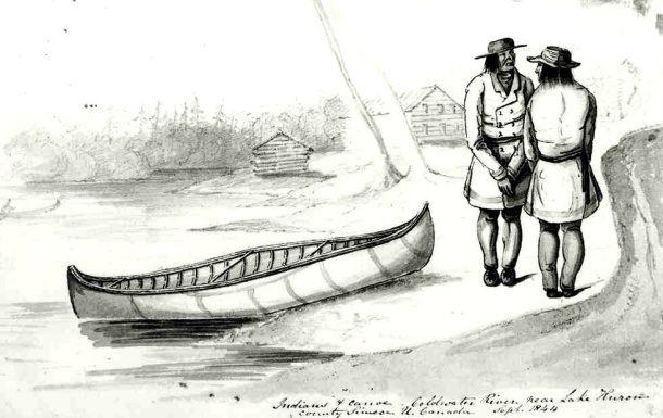 standing by canoe